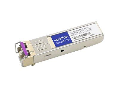 SFP (mini-GBIC) transceiver module (equivalent to: Arista Networks SFP-1G-CW-1490-80) - GigE - 1000Base-CWDM - LC single-mode - up to 49.7 miles - 1490 nm - TAA Compliant