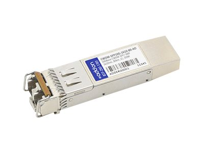SFP+ transceiver module (equivalent to: Cisco CWDM-SFP10G-1610-80) - 10 GigE - 10GBase-CWDM - LC single-mode - up to 49.7 miles - 1610 nm - TAA Compliant