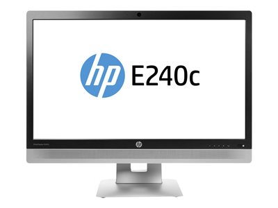 EliteDisplay E240c - LED monitor - 23.8 inch (23.8 inch viewable) - 1920 x 1080 Full HD (1080p) - IPS - 250 cd/m2 - 1000:1 - 7 ms - HDMI VGA DisplayPort - speakers - black (bezel)  silver (stand)  black (LCD cover)