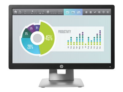 EliteDisplay E202 - LED monitor - 20 inch (20 inch viewable) - 1600 x 900 - IPS - 250 cd/m2 - 1000:1 - 7 ms - HDMI VGA DisplayPort - black - Smart Buy