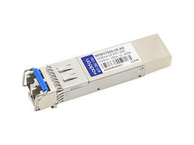 SFP+ transceiver module (equivalent to: Mellanox MFM1T02A-LR) - 10 GigE - 10GBase-LR - LC single-mode - up to 6.2 miles - 1310 nm - TAA Compliant - for Mellanox ConnectX EN MNPH28B-XTC MNPH29B-XTC