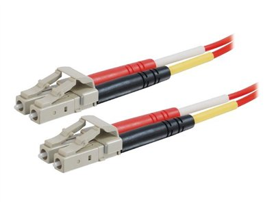 LC-LC 62.5/125 OM1 Duplex Multimode Fiber Optic Cable (Plenum-Rated) - Patch cable - LC multi-mode (M) to LC multi-mode (M) - 3 m - fiber optic - 62.5 / 125 micron - OM1 - plenum - red