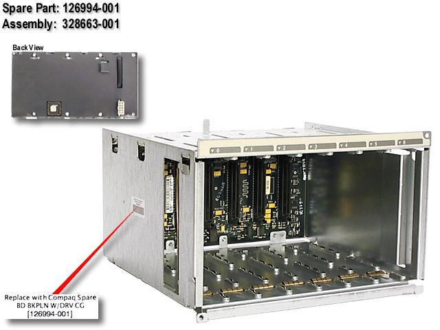 Ultra2 drive cage with backplane board