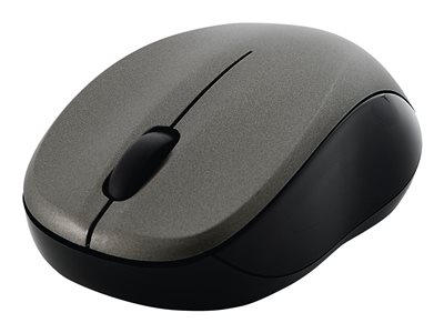 Silent Wireless Blue LED Mouse - Mouse - blue Led - 3 buttons - wireless - 2.4 GHz - USB wireless receiver - graphite