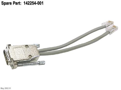 Ethernet dualport loopback cable