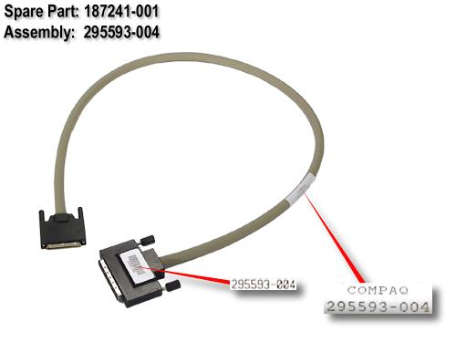 External VHDCI cable 0.9m (3ft) long
