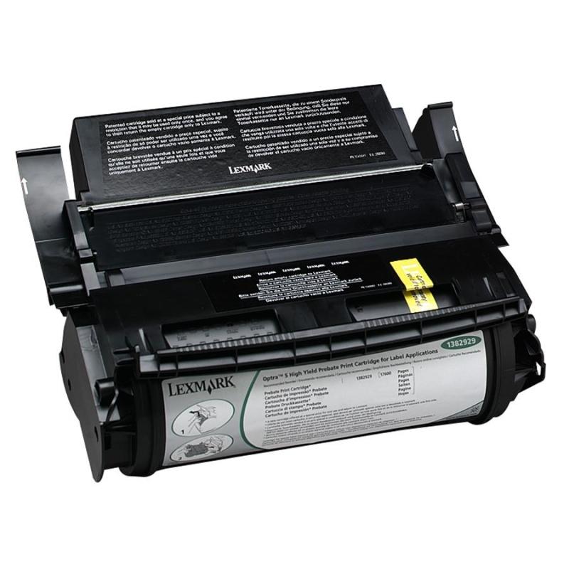 Optra S 1250 1255 1620 1625 1650 1855 2420 2450 2455 4059 High Yield Return Program Toner Cartridge for Label Applications (17600 Yield)