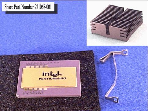 Intel Pentium Pro processor - 200Mhz (256MB Level-2 cache) - Includes heat sink