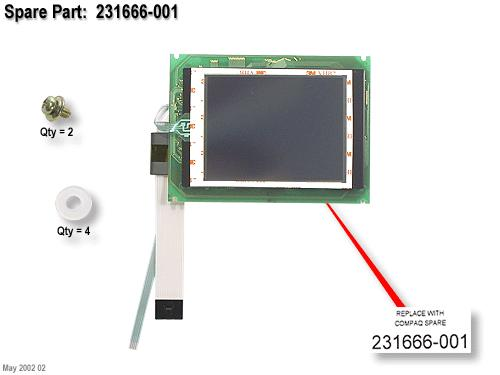 DSPLY LCD TOUCH W/BD