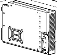 Processor / memory cell bezel - Front louvered plastic front cover for the processor / memory cell assembly