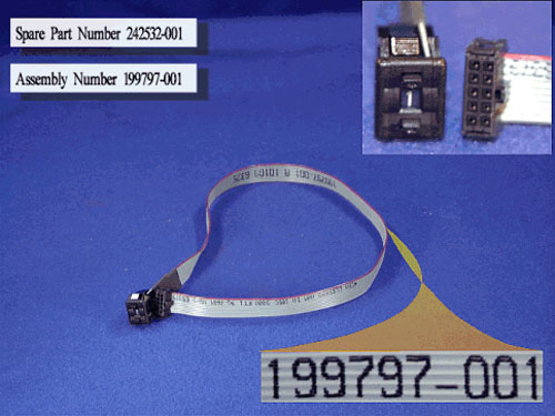 SCSI address switch and cable assembly - For external drives