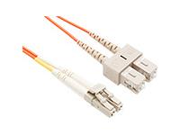 FIBER OPTIC PATCH CABLE LC-SC 62.5 125 MULTIMODE DUPLEX ORANGE 30M