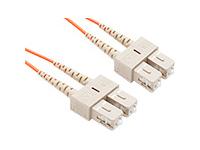 FIBER OPTIC PATCH CABLE SC-SC 62.5 125 MULTIMODE DUPLEX ORANGE 10M