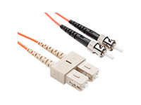 FIBER OPTIC PATCH CABLE SC-ST 62.5 125 MULTIMODE DUPLEX ORANGE 5M