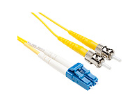 FIBER OPTIC PATCH CABLE LC-ST 9 125 SINGLEMODE DUPLEX YELLOW 20M