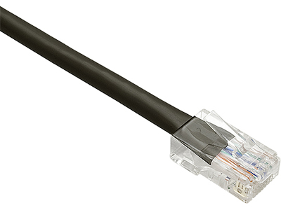 75FT CAT6 NON-BOOTED UNSHIELDED (UTP) ETHERNET NETWORK PATCH CABLE BLACK
