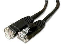 1FT BLACK CAT5E SHIELDED PATCH CABLE F/UTP SNAGLESS