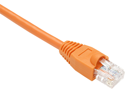 50FT ORANGE CAT5E SHIELDED PATCH CABLE F/UTP SNAGLESS