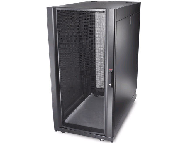 NetShelter SX Enclosure with Roof and Sides - Rack - black - 24U - 19 inch