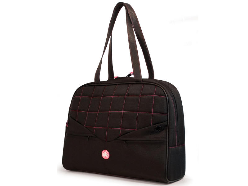 Sumo Womens 11.6 inch to 13.3 inch Laptop Purse - Notebook carrying case - 11.6 inch - 13.3 inch - black pink