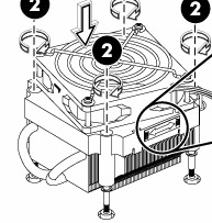Processor cooler assembly - Includes fan and heatsink