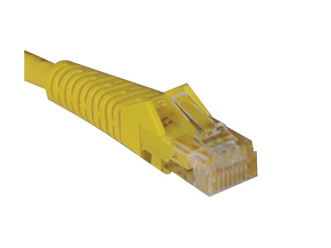 Lite Cat5e 350MHz Snagless Molded Patch Cable - (RJ45 M/M) - Yellow 14-ft.