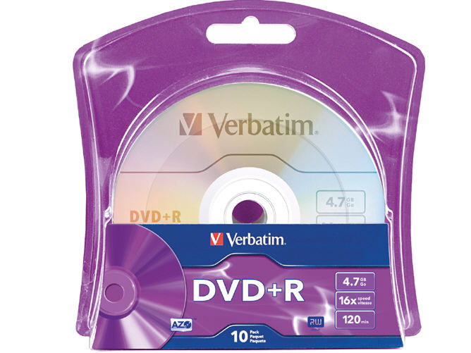 DISC DVD+R 4.7GB 16X 10/PKBRANDED SURFACE BLISTER