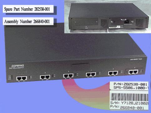 100 Base-T 6TX Switch