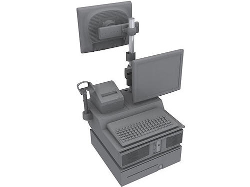 Integration Tray - I/o tray assembly - jack black - for Point of Sale System rp5800