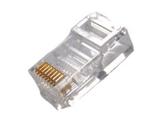 CAT5E RJ45 PLUGS- 100 PK UNIVERSAL PLUGS COMPATIBLE WITH BOTH SOLID AND STRANDED