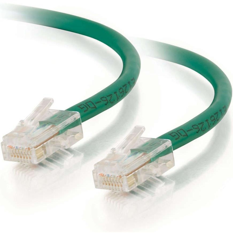 10ft Cat5e Non-Booted Unshielded (UTP) Network Patch Cable - Green - Category 5e for Network Device - RJ-45 Male - RJ-45 Male - 10ft - Green