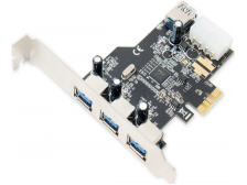 USB 3.0 PCI Express with HDD Power Connector 3+1 Port Retail