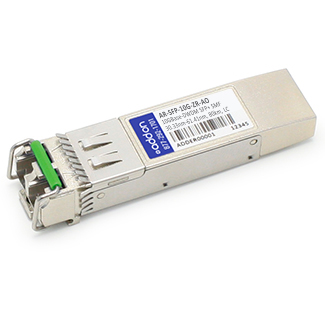Arista SFP-10G-ZR Compatible SFP+ Transceiver - SFP+ transceiver module (equivalent to: Arista Networks SFP-10G-ZR) - 10 GigE - 10GBase-ZR - LC single-mode - up to 49.7 miles - 1550 nm