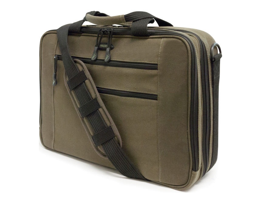 Eco-Friendly Carrying Case (Briefcase) for 16 inch Tablet iPad Magazine Paper Sheet Accessories - Olive - Cotton Canvas