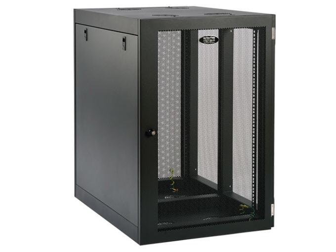 Lite 18U Wall Mount Rack Enclosure Cabinet Side Mount - Heavy Duty Wallmount - Black
