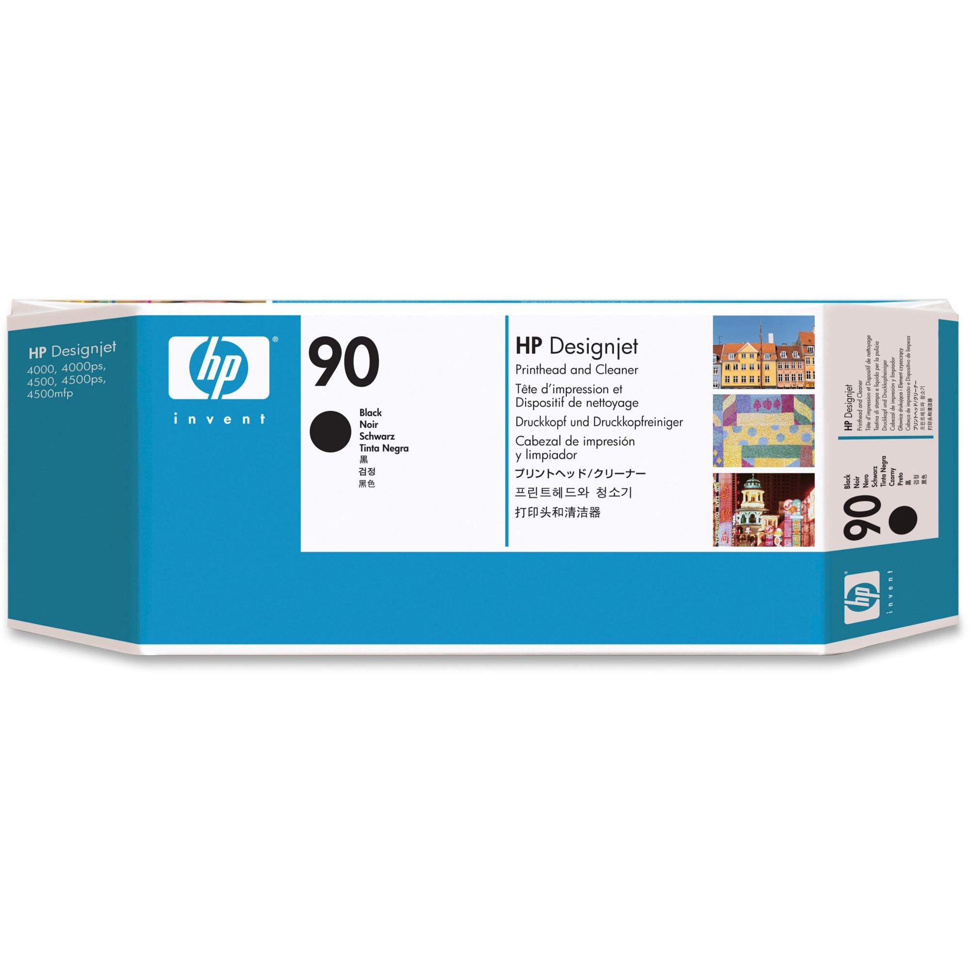 10 UNITS NO 90 BLACK PRINTHEAD & CLEANER FOR DESIGNJET 4000/4500