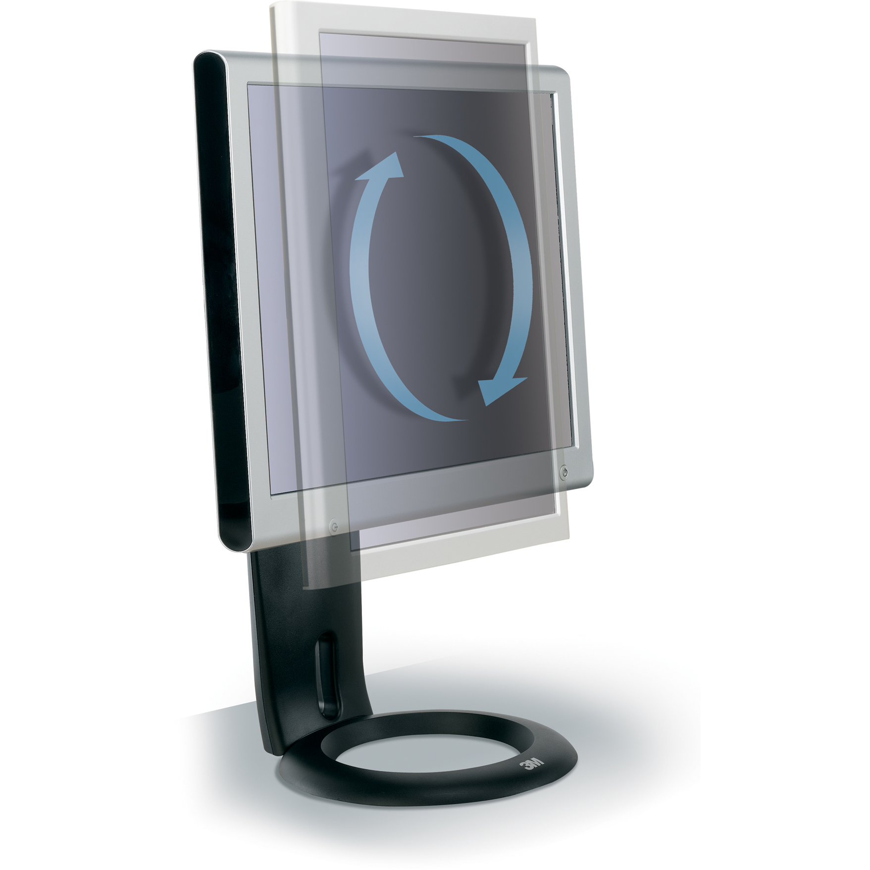 Easy Adjust Monitor Stand - Stand for LCD display ( Tilt & Swivel ) - table-top
