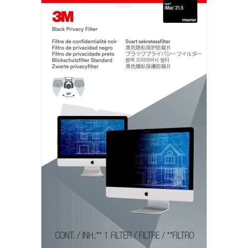 Privacy Filter for 21.5 inch Apple iMac - Display privacy filter - 21.5 inch wide - black - for Apple iMac (21.5 in)