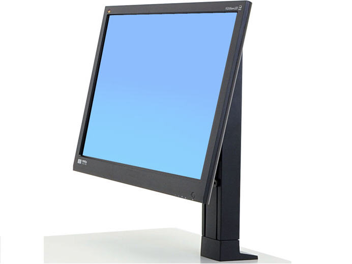 WorkFit Single LD Monitor Kit - Cart upgrade kit for LCD display - black - screen size: up to 27 inch