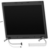 15.6-inch HD LED AntiGlare display assembly (Red) - 1366 x 768 maximum resolution - For use on models equipped with a webcam