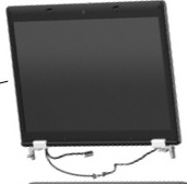 14.0-inch HD+ LED AntiGlare display panel - 1600 x 900 maximum resolution - Includes three WLAN antenna transceivers with cables microphones nameplate and logo - For use with models NOT equipped with a webcam