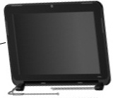 10.1-inch High Definition flush glass display assembly (IMR Blue)-With web camera and microphone module