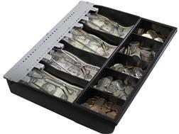 16 POS Cash Drawer tray with coins and bills slot Retail