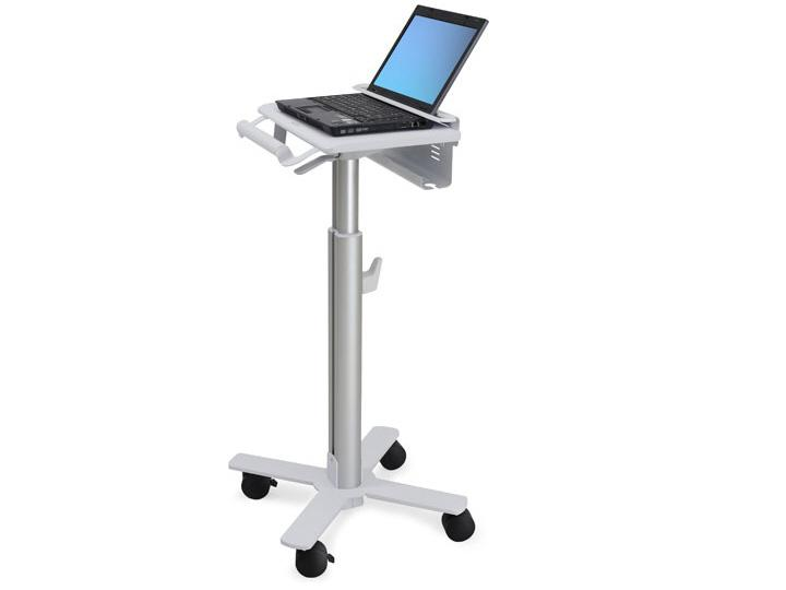 StyleView Laptop Cart SV10 - Cart for notebook - medical - metal - white aluminum - screen size: up to 17 inch