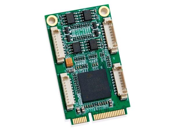 MINI PCI-EXPRESS 1.1 4-PORT RS-422/485 SERIAL INTERFACE EXAR354 CHIPSET