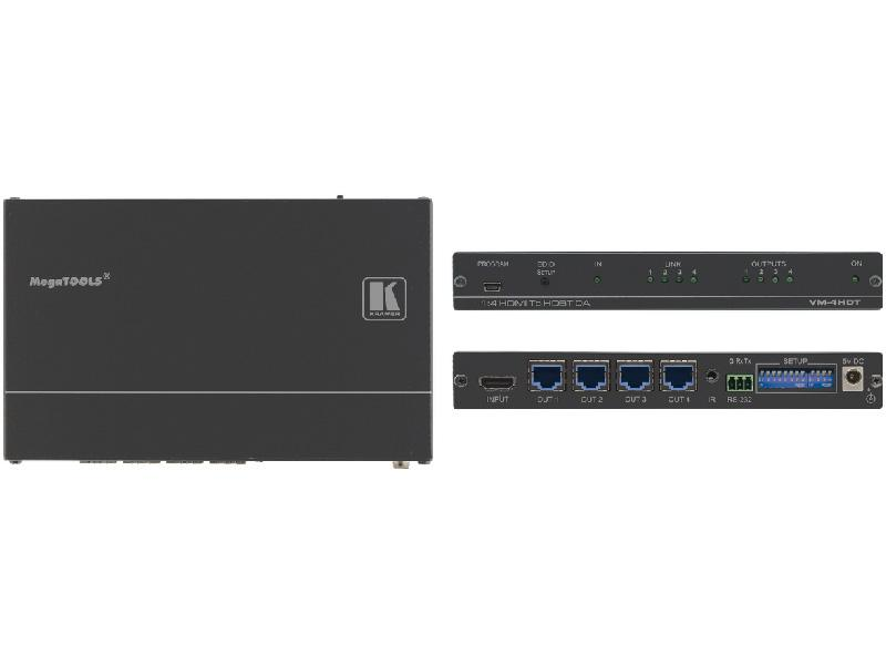 1:4 4K UHD HDMI TO HDBASET DISTRIBUTION AMPLIFIER