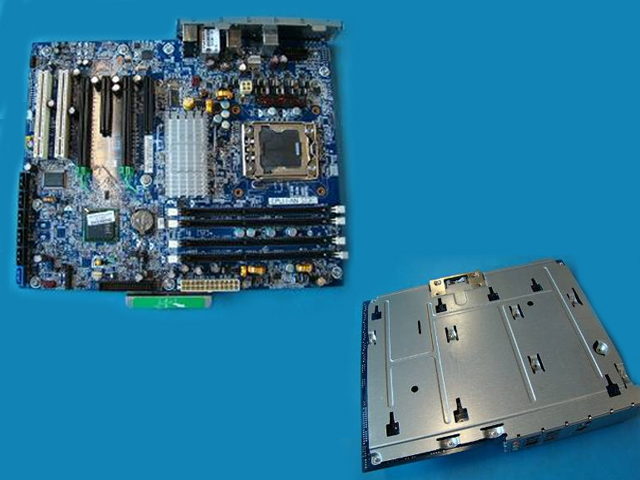 System board (motherboard) - Intel Tylersburg-B3 1S/DDR3 1333MHz front side bus four DIMM memory slots and NO Firewire port (NOTPM)
