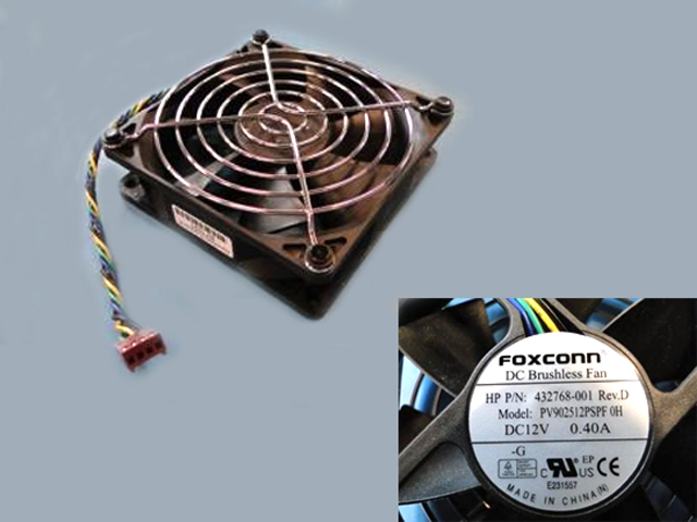 System fan - Variable speed size 92mm x 25mm 12VDC 0.40A