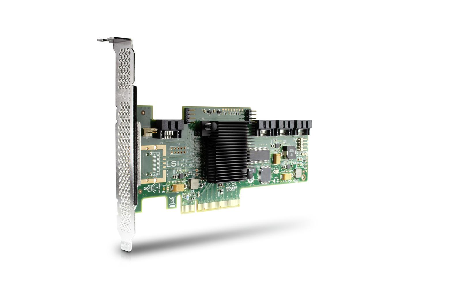LSI 9212-4i SAS 6GB 4-port RAID card - Half Duplex, x4 PCIe 2000 MB/s, Full Duplex x8 PCIe 4000 MB/s