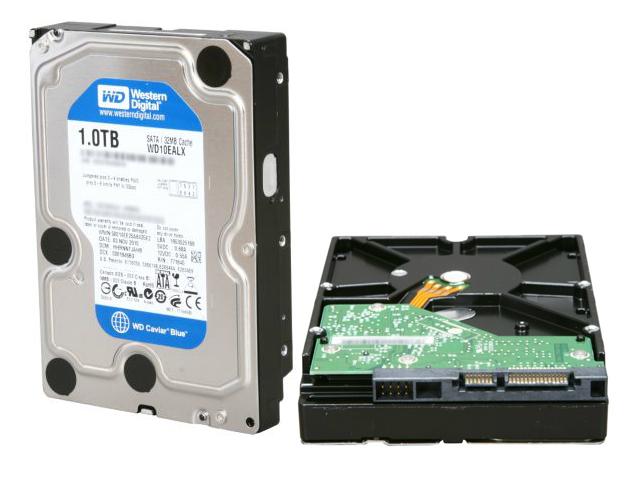 1TB SATA 6Gb/s transfer speed hard drive - 7200 RPM 3.5-inch form factor Western Digital Blue WD10EALX